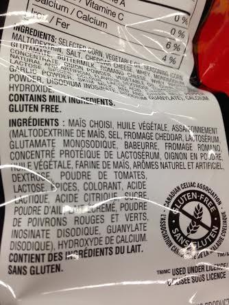 are nacho cheese doritos gluten free